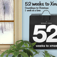 52 Weeks to Xmas : Countdown to Christmas -  Perpetual Calender