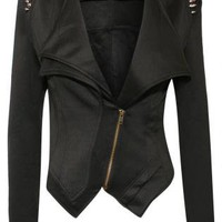 Spikes Shoulder Biker Jacket - by Pilot