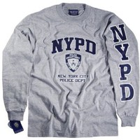 Amazon.com: NYPD Shirt Long Sleeve T-Shirt Authentic Clothing Apparel Officially Licensed Merchandise by The New York City Police Department Gray: Clothing