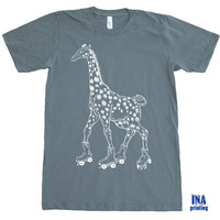 GIRAFFE Tshirt - Mens T shirt  - American Apparel S M L XL (9 Colors Available)