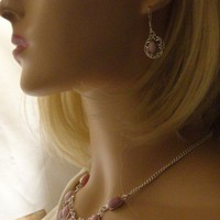 Soft Pink-Lavender Dulcotte Agate Necklace and Earring Set