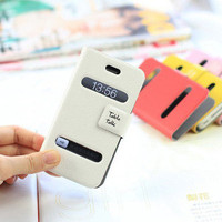 Free Shipping NEW Table Talk Flip Cover Case Pouch Wallet  for iPhone 4 4S 4G