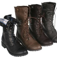Amazon.com: Sweet Beauty terra-01 Women&#x27;s mid calf combat boot with micro fiber lining: Shoes