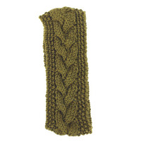 Knitted Earwarmer Headband in Army Green - Acrylic Yarn