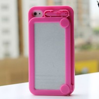 Amazon.com: Hoter Creative Drawing Board Protective Case for iPhone 4/4S - Hot Pink: Cell Phones &amp; Accessories