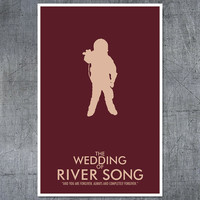 Doctor Who Poster The Wedding of River Song by balancedpersonality