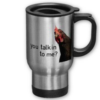 Funny Attitude Chicken - you talkin to me? Coffee Mug from Zazzle.com
