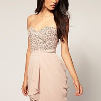 Lipsy | Lipsy VIP Embellished Bustier Tulip Dress at ASOS