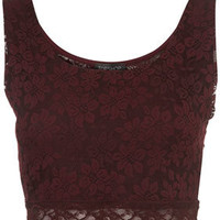 Lace Crop Top - Jersey Tops  - Apparel