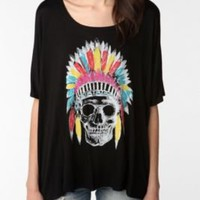 staring at stars skull headdress oversized tee. $39.00