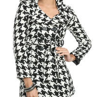 Belted Houndstooth Coat | Shop Jackets at Wet Seal