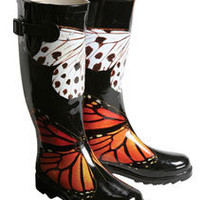 Butterfly Rain Boots