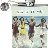 Anne Taintor 58012 2-3/4 W by 4-1/4-Inch H Flask, Born to be Wild: Amazon.com: Kitchen & Dining