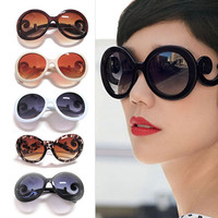 5 Colors Retro-inspired Women Butterfly Arms Semi Transparent Round Sunglasses