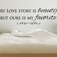 "Wall Vinyl Quote - Every Love Story (60""x15"")"