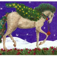 Christmas Horse, Pegasus, 3 greeting cards