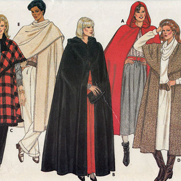 Cape Pattern. Butterick 6796. 3 lengths.