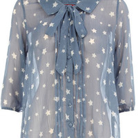 Star print blouse - View All Sale - Sale  Offers - Dorothy Perkins
