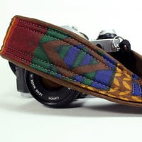 Camera Strap with pocket, Tribal 3, Southwestern, dSLR, SLR