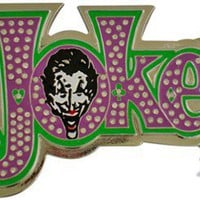 Batman Joker Name Belt Buckle
