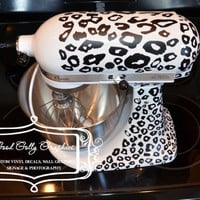 Kitchen mixer vinyl decal LEOPARD PRINT decal