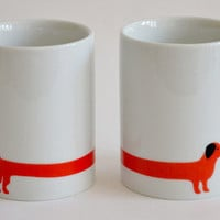k studio — red dog 2 mug set