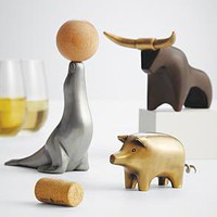 whimsical animal wine opener from RedEnvelope.com