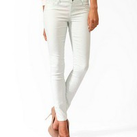 Swiss Dot Skinny Jeans