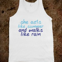 Acts Like Summer Quote Tank-Unisex White Tank