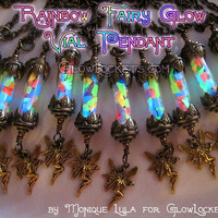Rainbow Fairy Glow in the Dark Vial Lantern Pendant SALE