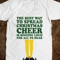 The Best Way To Spread Christmas Cheer (Elf V Neck) - Fun Movie Shirts