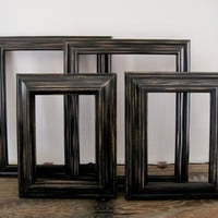 Black Chunky Picture Frame Set Of 4 Rustic Farmhouse 8x10 5x7