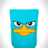 Phineas & Ferb Perry the Platypus Fleece Blanket