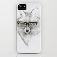 Fox Specs iPhone Case by Phil Jones | Society6