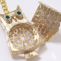 Whimsical Vintage OWL Perfume Locket Pendant by LoveLockets