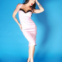 The Masuimi Dress in Lavender Bengaline | Pinup Girl Clothing