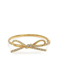 kate spade | skinny mini pave bow bangle
