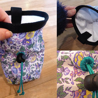 Chalk Bag for Climbing. Floral Pattern