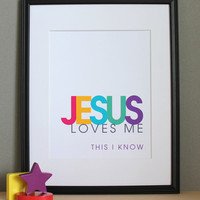 Jesus Loves Me, Christian Nursery W.. on Luulla