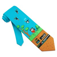 Men's Microfiber Duck Game Tie