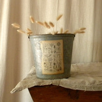 Recycled zinc pail French country decor by lapomme on Etsy