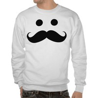 Funny Mustache Smiley Face Sweatshirt from Zazzle.com