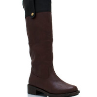 two-tone-riding-boots BROWN - GoJane.com