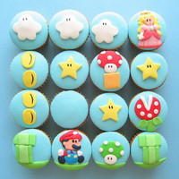 super mario cupcakes 2 | Flickr - Photo Sharing!