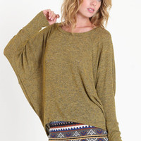 Golden Earth Knit Dolman Sweater