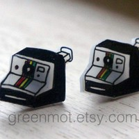 Polaroid Camera Earrings by greenmot on Etsy