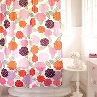 Chloe Floral Organic Shower Curtain | PBteen