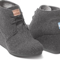 Grey Wool Women's Desert Wedges | TOMS.com