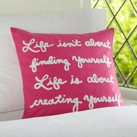 Create Yourself Organic Pillow Cover | PBteen