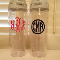 Monogrammed Tervis 24 ounce water bottle